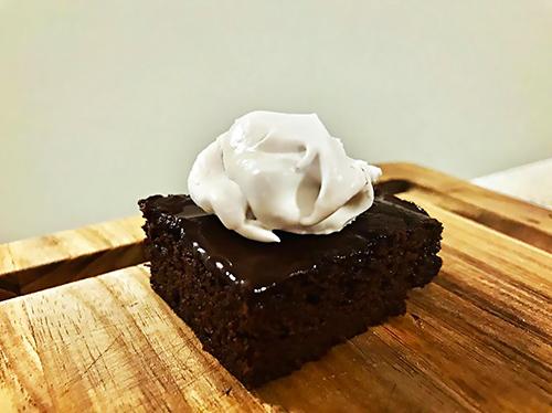image of chocolate ganache brownies