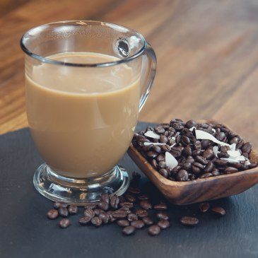 Image of coffee infused with MCT oil