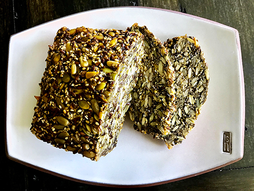 nutty seedy paleo bread